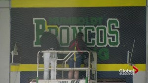Mural at Schroh Arena commemorate Humboldt Broncos